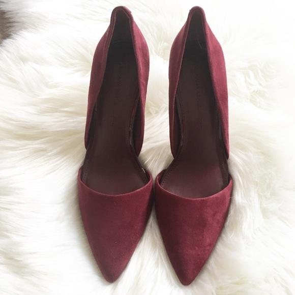32aea1a1e899 Banana Republic Shoes - Banana Republic Burgundy Suede D Orsay Heels